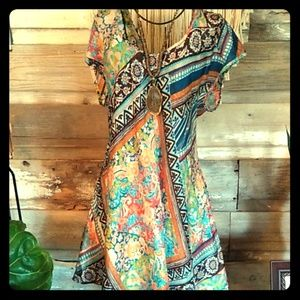 Johnny Was Silky Boho Long Top Blouse